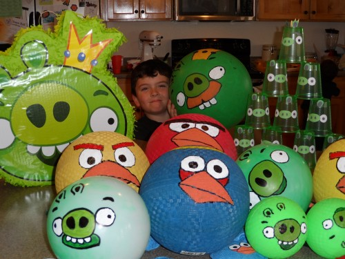Angry Birds birthday party food