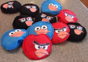 Angry Birds Bean Bags for Angry Birds birthday party games.