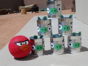 Angry Birds Bowling game.  Perfect for Angry Birds Birthday parties