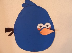 Pin the Beak on the angry bird