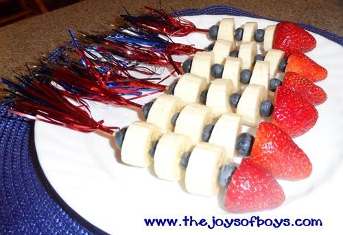 Fruit Rocket - 4th of July recipe