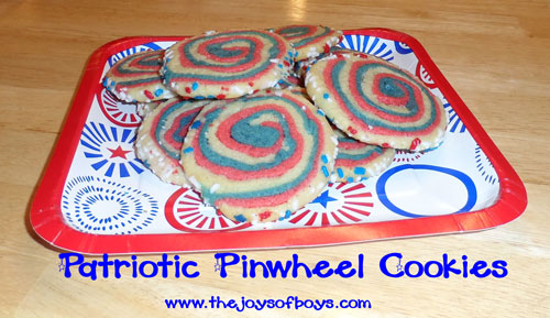 4th of July cookies - pinwheels