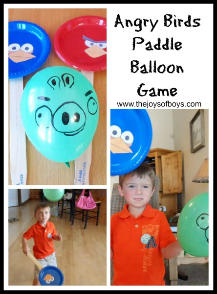 Are at school i made him this angry birds paddle ball balloon game