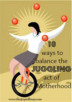 Juggling motherhood