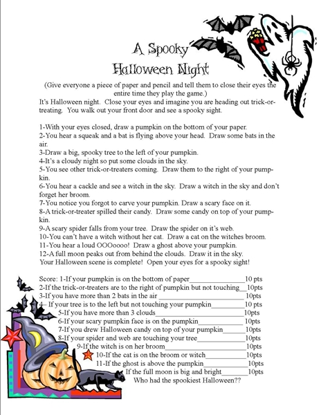 A Spooky Halloween Night Game