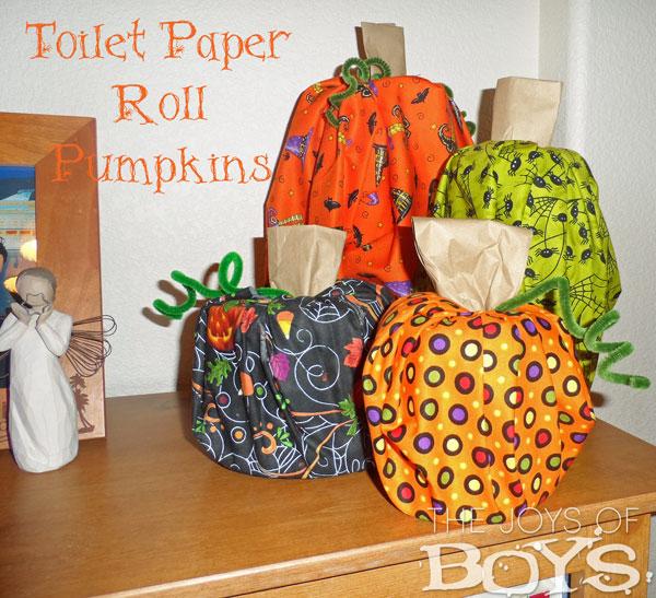 Toilet Paper Roll Pumpkins