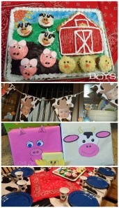Farm Birthday Party ideas.  Farm cake, decorations and presents. www.thejoysofboys.com