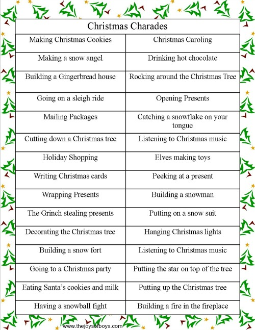 games to play at christmas time for adults