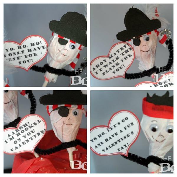Pirate Valentine Collage