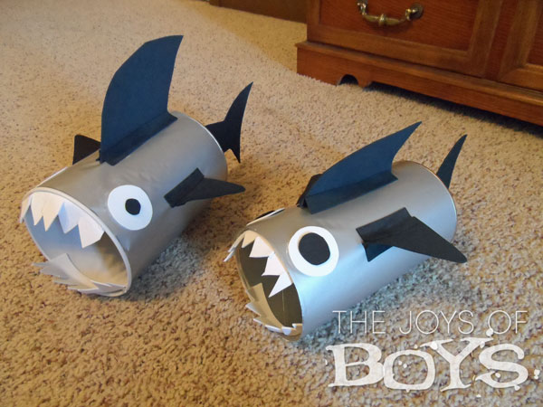 Shark Valentine Boxes- Easy Valentine boxes for boys