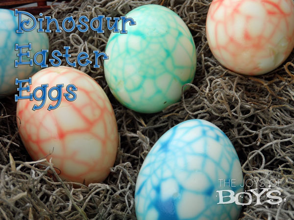 Dinosaur Eggs for Easter