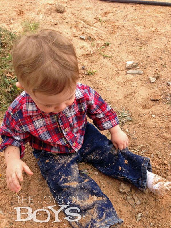 Playing-in-the-Dirt-in-Wrangler jeans