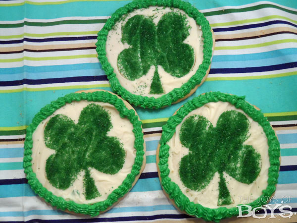 St Patrick's Day Shamrock cookies