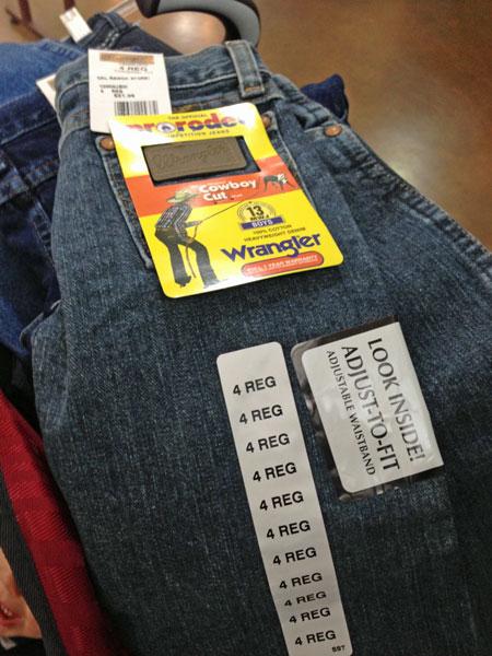 Sz 4 Wrangler Jeans