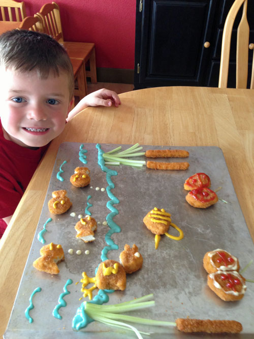 Spring Food Art with Tyson Chicken nuggets
