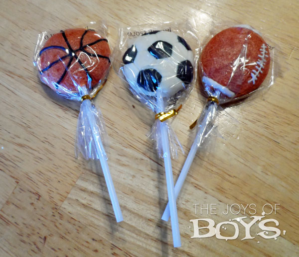 Sports ball lollipop for Sports party