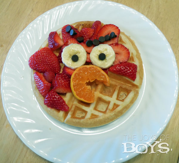 Angry Birds waffle