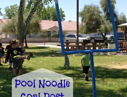 DIY Pool Noodle Goal Post