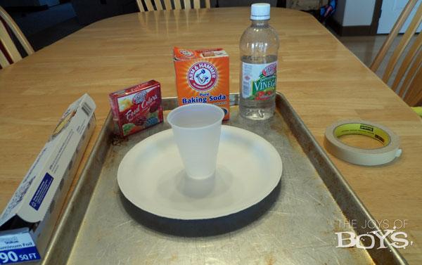 Baking soda volcano