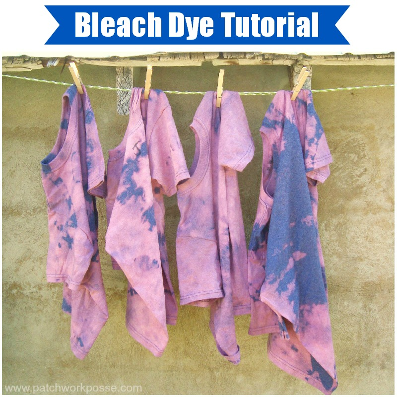 Summer day camp bleach tie dye shirts the joys of boys for Bleach dye shirt instructions