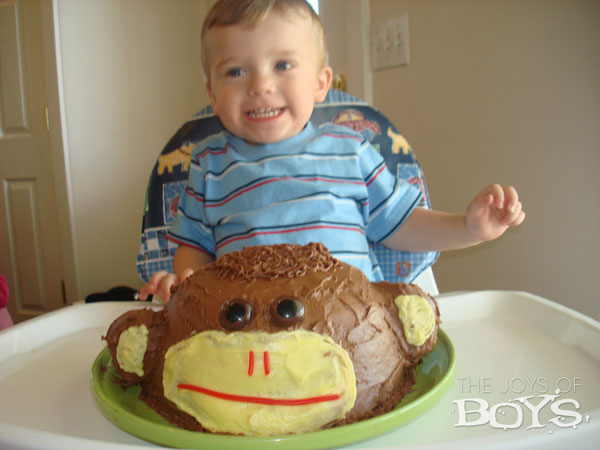 Easy Monkey Cake The Joys of Boys
