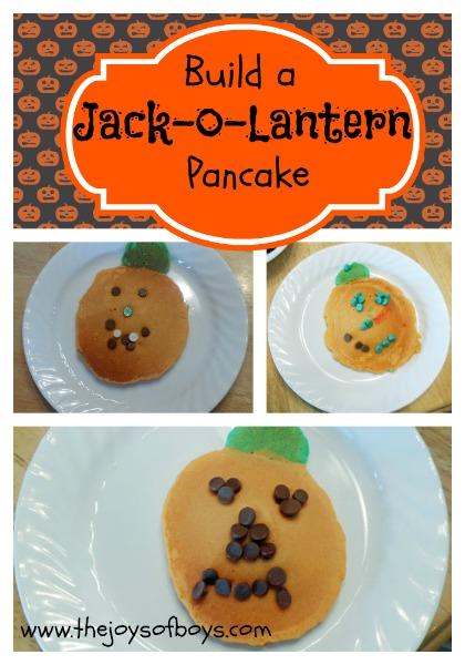 Jack-o-lantern pancake