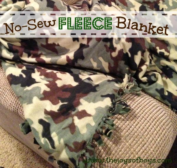 No-Sew Fleece Blanket - The Joys of Boys