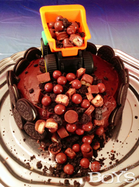 Sensational Dump Truck Cake The Joys Of Boys Funny Birthday Cards Online Elaedamsfinfo