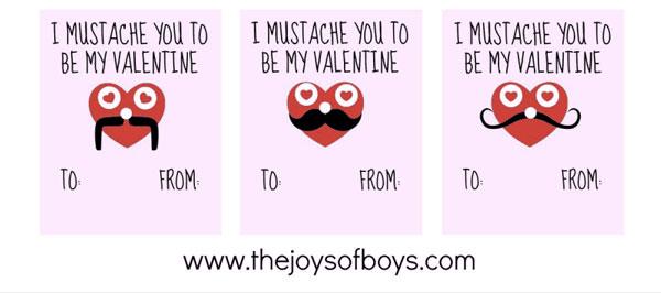 Printable Valentine for Boys