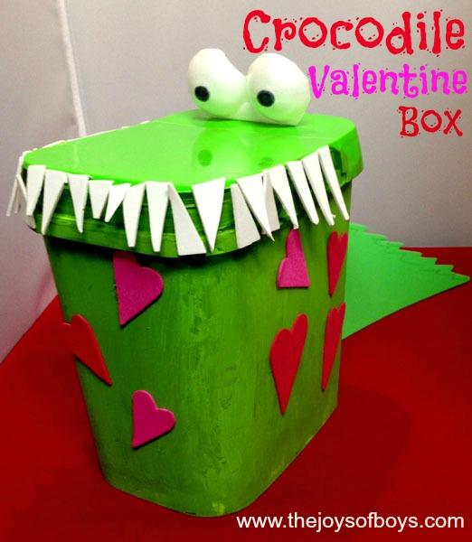 Crocodile Valentine Box