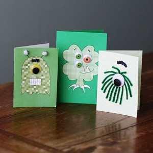 St Patricks day monster cards