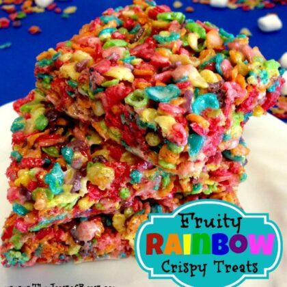 Rainbow Crispy Treats