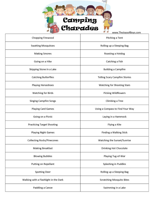and if you love playing charades check out the rest of our printable charades games