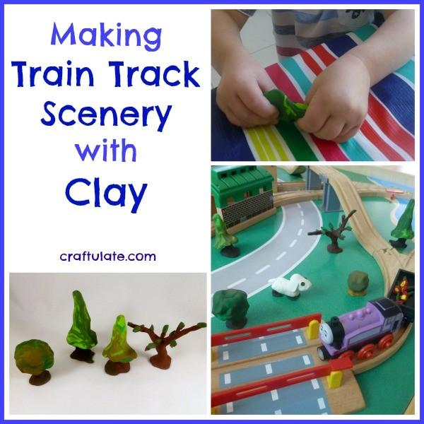 Clay Train Track scenery