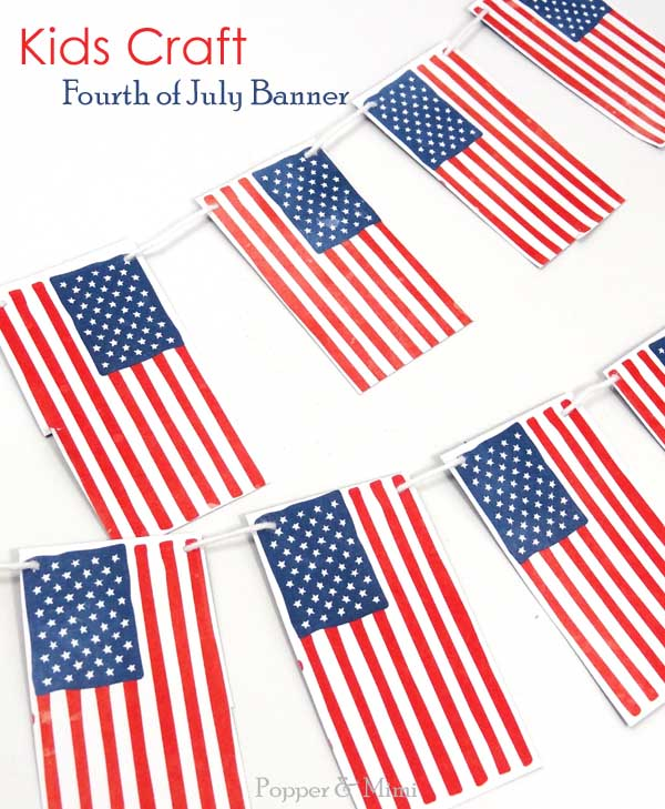 4th of July banner - kids craft