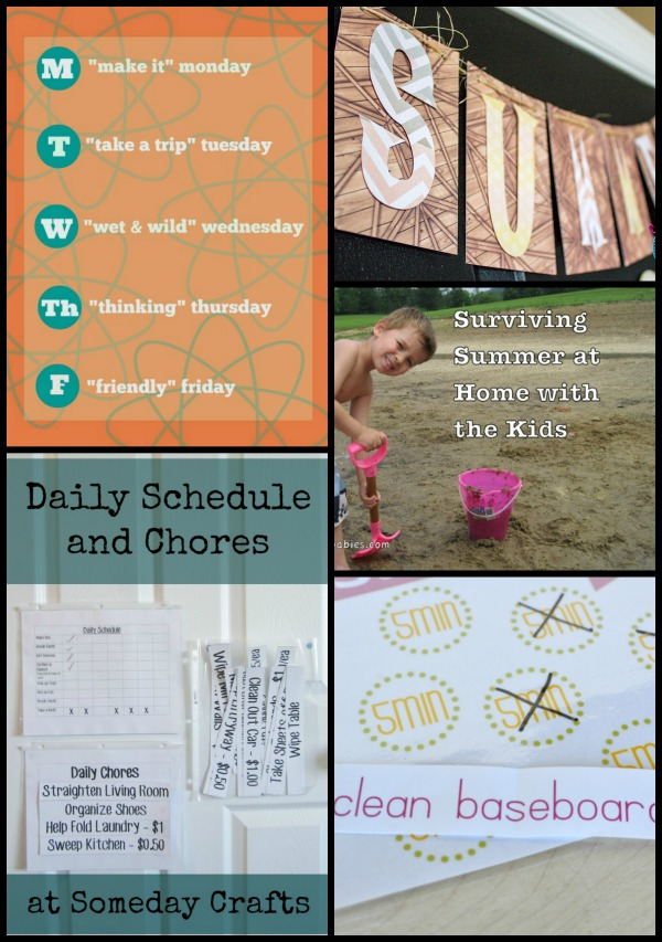 chore charts schedules Collage
