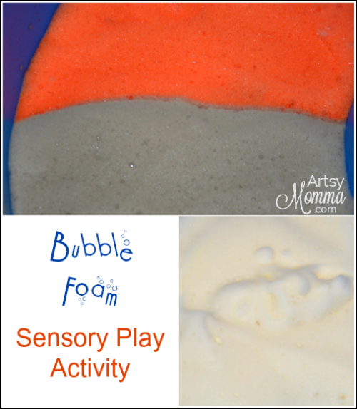 Bubble Foam Sensory Activity for Kids
