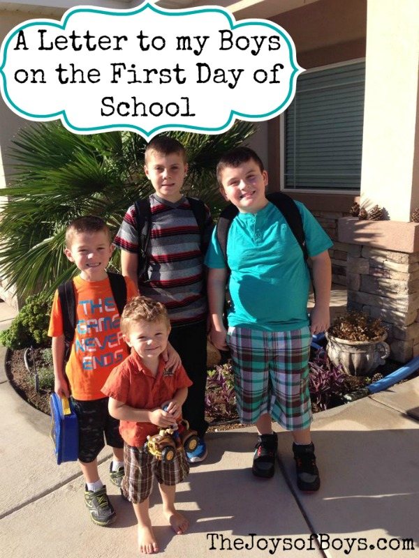 Letter to my Sons on the First Day School – Back to School Quotes