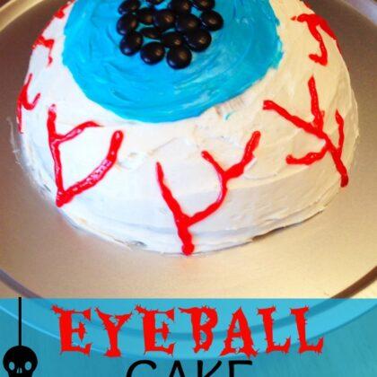 Eyeball Cake completed
