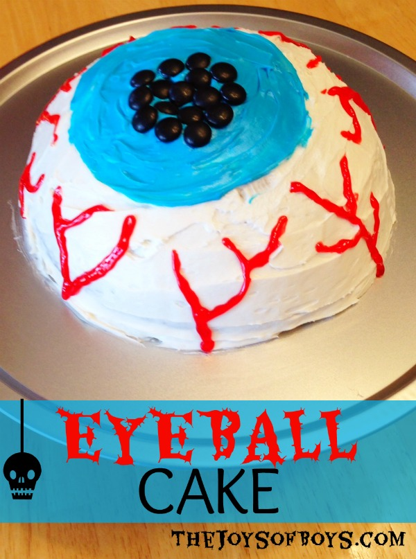 Eyeball Cake completed