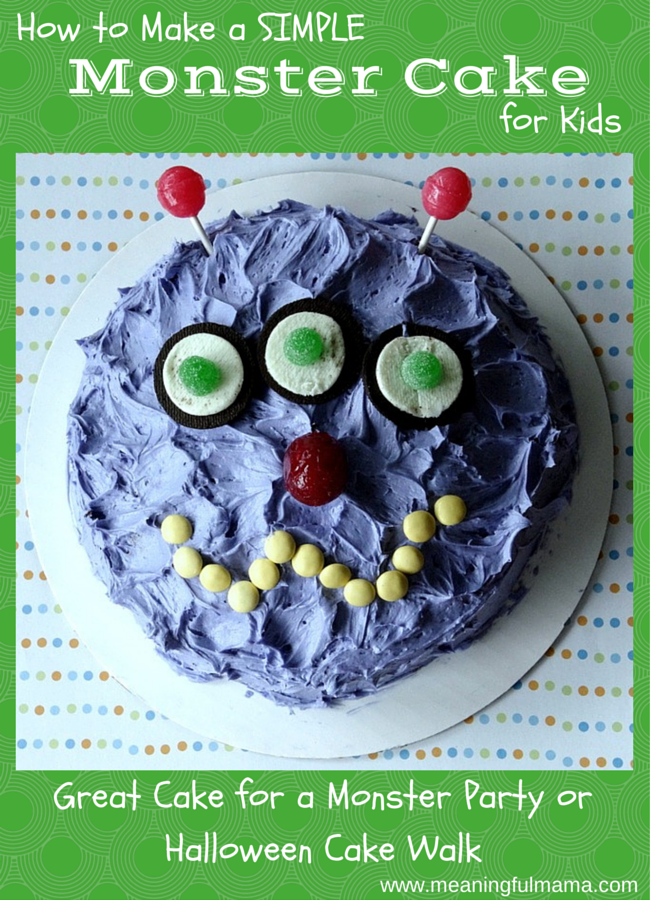 Monster Halloween Cakes