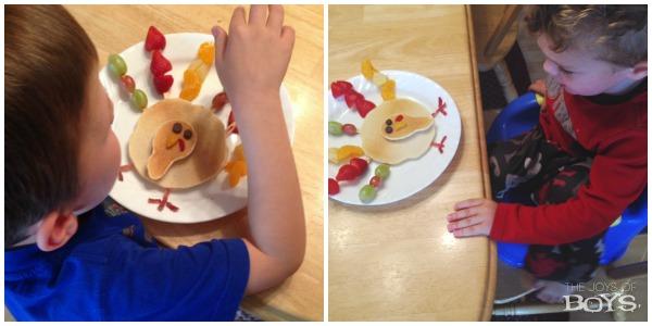 Eating Turkey Pancakes
