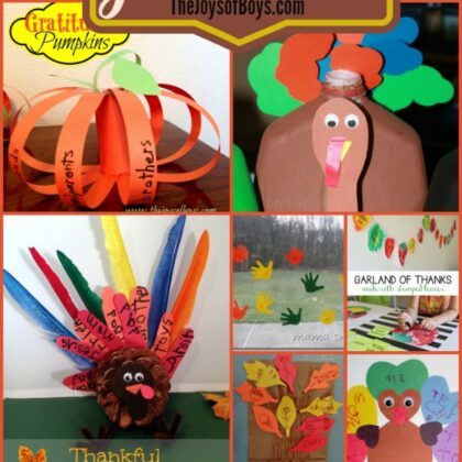 Gratitude crafts and activities