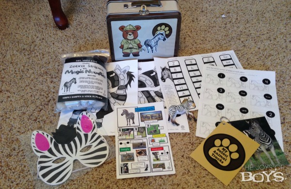 Animal trackers club zebra