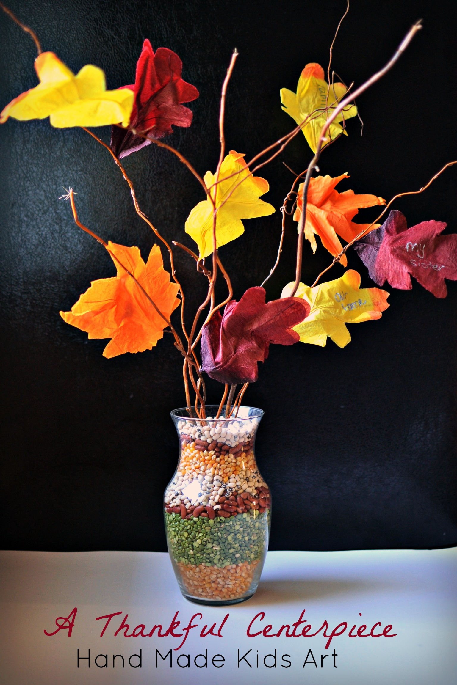 Crafts and activities that teach gratitude the joys of boys for Easy thanksgiving centerpiece crafts
