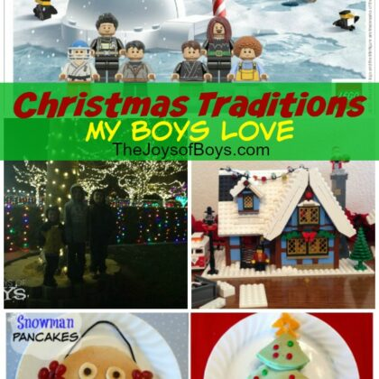 Christmas Traditions My Boys love