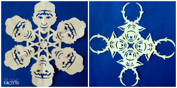 Frozen inspired Snowflakes