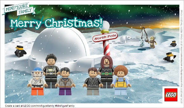 LEGO Minifigure Holiday Family Card