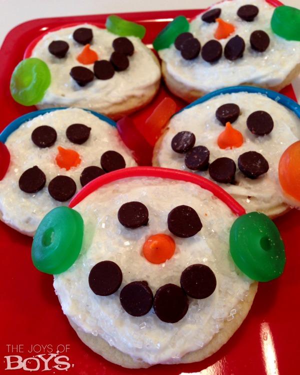 Snowman Sugar Cookies