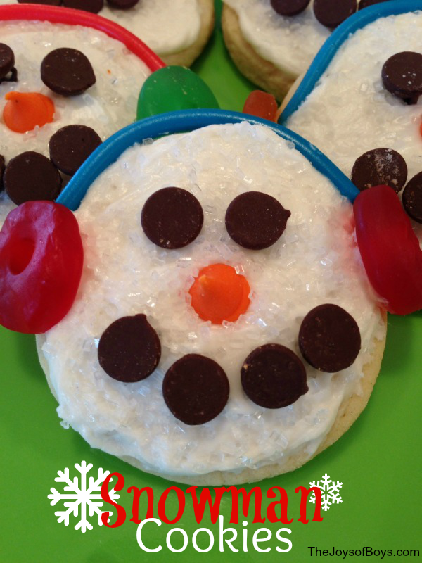 Easy Snowman Cookies Simple And Cute Holiday Cookies